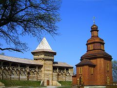 Воскресенская церковь на территории Батуринской крепости