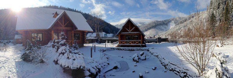 Дом в Карпатах зимой