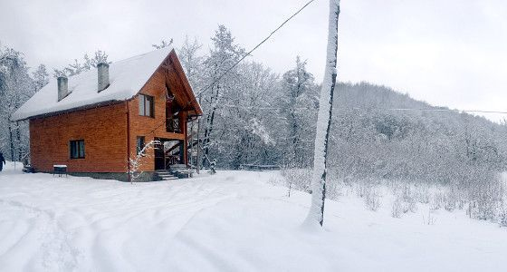 Будинок біля озера в Карпатах