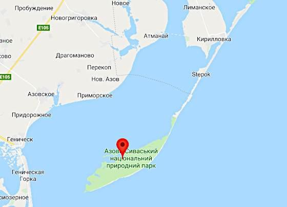 Острів Бюрючий на карті