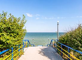 Кирилівка Перлина Прибою спуск на пляж фото