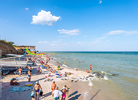 Кирилівка Перлина Прибою пляж і море фото