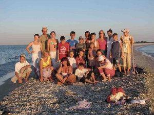 Відпочинок в наметі біля моря