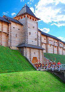 Парк Київська Русь стіна Заборола