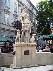 Площа Ринок, фонтан із зображенням Діани