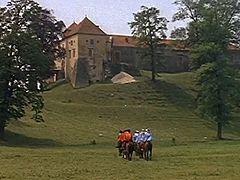 Свірзький замок, епізод із фільму «д'Артаньян і три мушкетери»