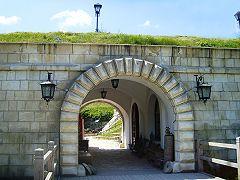 Золочівський замок, в'їзд